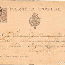 Sellos: ENTERO POSTAL 36. PELON. DE HARO A SEVILLA. 30-MAR-1901. PRECIO DE CATALOGO + 35 €.. Lote 99242687