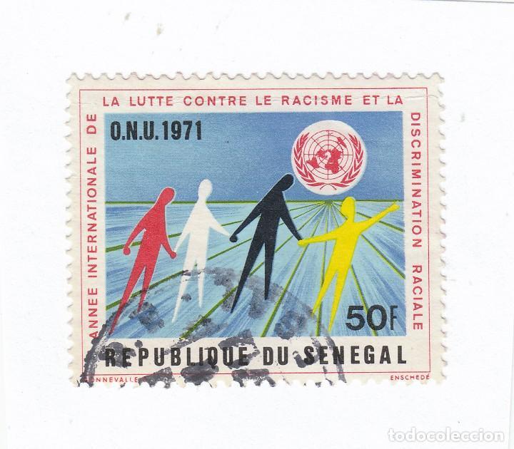 SELLO. AÑO INTERNACIONAL LUCHA CONTRA RACISMO Y DISCRIMINACIÓN RACIAL, ONU 1971. REP. SENEGAL. (Sellos - España - Dependencias Postales - Beneficencia)