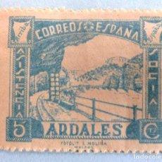 Sellos: SELLOS BENEFICENCIA ARDALES. ASISTENCIA SOCIAL. 5 CTS. CON CHARNELA.. Lote 106632059