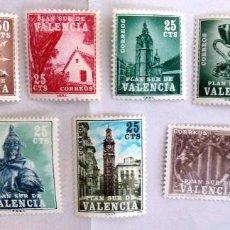 Sellos: SELLOS PLAN SUR DE VALENCIA 1963-1985. SERIE COMPLETA. NUEVOS.. Lote 106637151