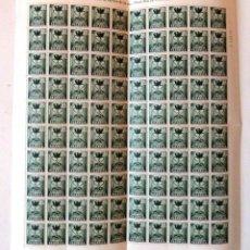 Sellos: SELLOS PLAN SUR DE VALENCIA 1968. PLIEGO DE 100 SELLOS. NUEVOS. EDIFIL 5. SANTO GRIAL.. Lote 106643831