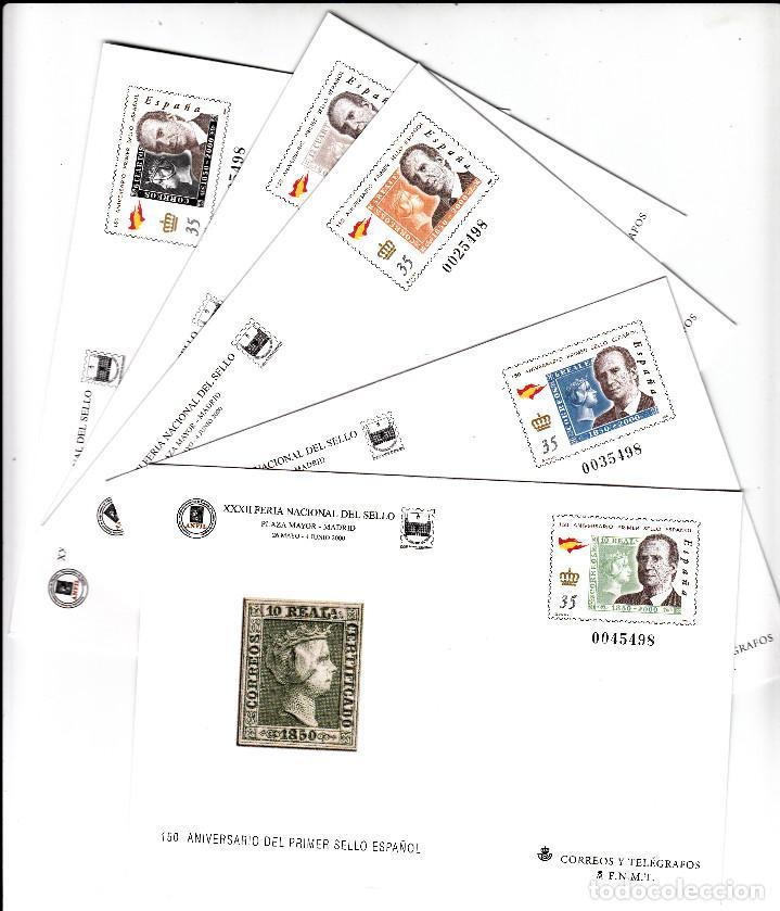5 SOBRES ENTERO POSTALES -FERIA NACIONAL DEL SELLO MADRID 2000 -NUMS 60 A 64 -- (Sellos - España - Dependencias Postales - Entero Postales)