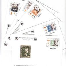 Sellos: 5 SOBRES ENTERO POSTALES -FERIA NACIONAL DEL SELLO MADRID 2000 -NUMS 60 A 64 --. Lote 107428551