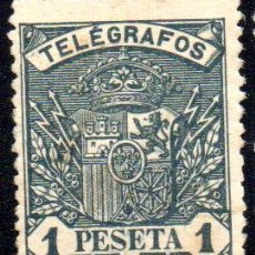 Sellos: ESPAÑA. TELÉGRAFOS 1 PESETA, EN NUEVO. Lote 215781822