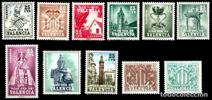 PLAN SUR VALENCIA - NUEVOS - 11 VALORES (Sellos - España - Dependencias Postales - Beneficencia)