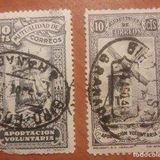 Sellos: MUTUALIDAD DE CORREOS, 2 VALORES DE 10 CTS.. Lote 116957223