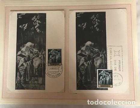Sellos: JOsé maria sert 1966 serie completa 10 tarjetas máximas con matasellos primer día Madrid - Foto 3 - 118074139