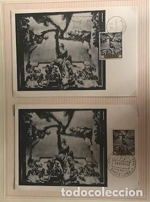Sellos: JOsé maria sert 1966 serie completa 10 tarjetas máximas con matasellos primer día Madrid - Foto 4 - 118074139