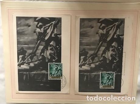 Sellos: JOsé maria sert 1966 serie completa 10 tarjetas máximas con matasellos primer día Madrid - Foto 5 - 118074139