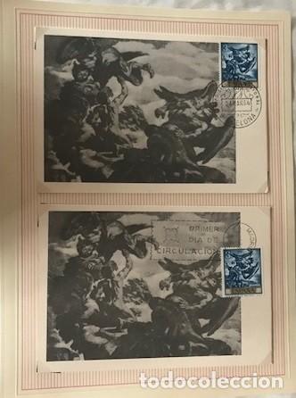 Sellos: JOSÉ MARÍA SERT 1966. 10 TARJETAS MÁXIMAS MATASELLOS PRIMER DÍA BARCELONA - Foto 2 - 118074371