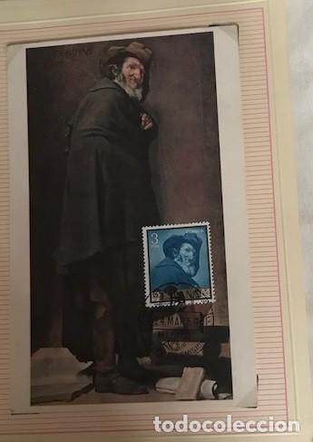 Sellos: diego velázquez. tarjetas máximas matasellos madrid primer día. Serie de 10 tarjetas - Foto 2 - 118076235