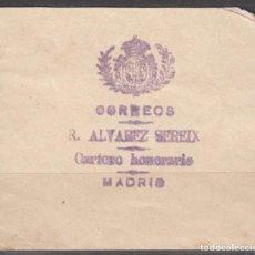 Sellos: ESPAÑA, FRANQUICIAS POSTALES, 1893 EDIFIL Nº 9 , R. ALVAREZ SEREIX. . Lote 118626123
