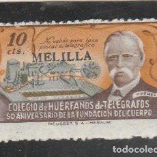 Sellos: ESPAÑA 1945 - HUERFANOS TELEGRAFOS - MELILLA - NUEVO. Lote 120001423