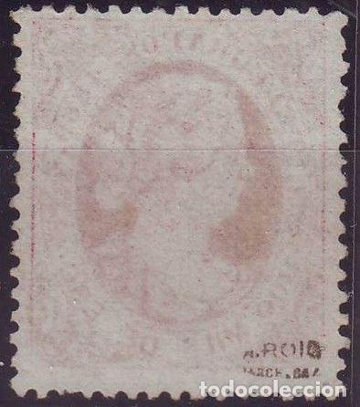 Sellos: AÑO 1869. TELEGRAFOS 27 *MH. ISABEL II. MARQUILLADO. .VC 100 EUROS - Foto 2 - 120463043