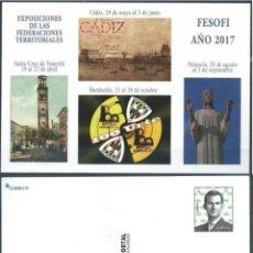 Sellos: ESPAÑA 2017 ENTERO POSTAL FESOFI CON PREFRANQUEO OFICIAL. Lote 143598662