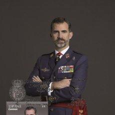Sellos: SPAIN 2018 - 50TH ANNIVERSARY S.M. KING PHILIP VI MAXICARD. Lote 126140164