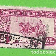 Sellos: ASOCIACIÓN BENÉFICA DE CORREOS - CORREO IMPERIAL - CON PIE DE IMPRENTA. (1944).. Lote 127239743