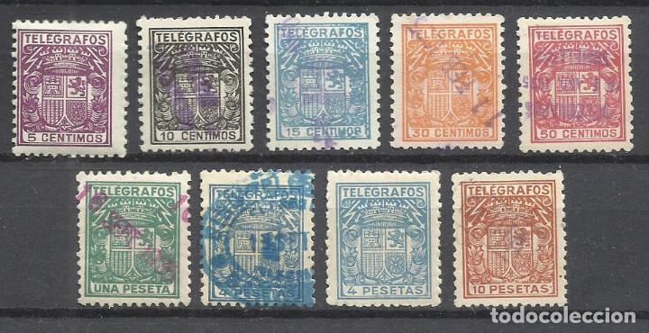 9071-ESPAÑA SERIE COMPLETA+ VARIEDAD TELEGRAFOS 1932 Nº68/75 EDIFIL Y Nº68/75 YVERT.2ª REPUBLICA ESP (Sellos - España - Dependencias Postales - Telégrafos)
