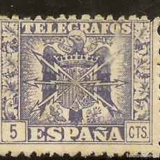 Timbres: ESPAÑA TELÉGRAFOS EDIFIL 79* MH 5 CÉNTIMOS AZUL ESCUDO ESPAÑA 1940/42 NL781. Lote 133534690