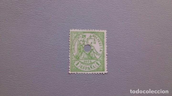 ESPAÑA - 1874 - I REPUBLICA - TELEGRAFOS - EDIFIL 150 T - CENTRADO - COLOR VIVO - LUJO. (Sellos - España - Dependencias Postales - Telégrafos)