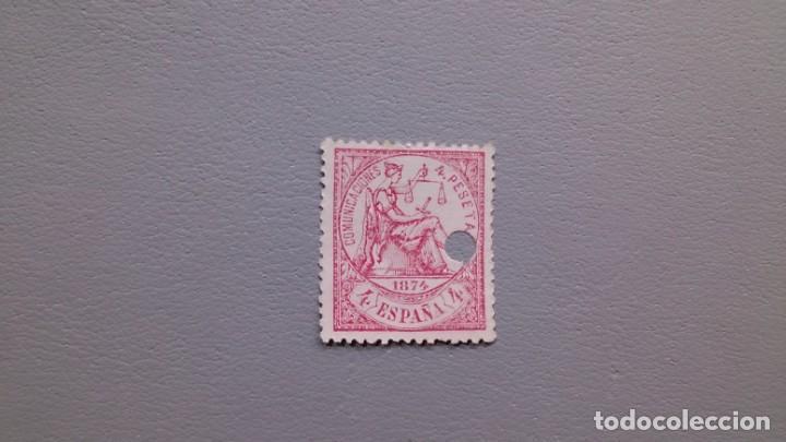 ESPAÑA - 1874 - I REPUBLICA - TELEGRAFOS - EDIFIL 151 T - CENTRADO - COLOR VIVO - LUJO. (Sellos - España - Dependencias Postales - Telégrafos)