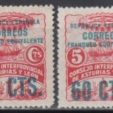 Sellos: ASTURIAS Y LEON, 1937 EDIFIL Nº 8 / 11 /**/ . Lote 134622098