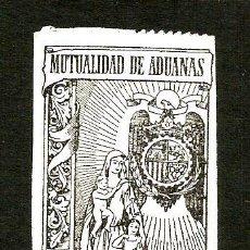 Sellos: SELLO MUTUALIDAD ADUANAS DE 50 CTS. EPOCA DE FRANCO.. Lote 135108366