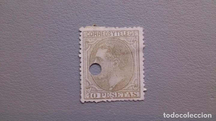 ESPAÑA - 1879 - ALFONSO XII - TELEGRAFOS - EDIFIL 209 T. (Sellos - España - Dependencias Postales - Telégrafos)
