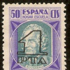 Sellos: ESPAÑA BENEFICENCIA EDIFIL 28 (*) MNG 50 CÉNTIMOS SOBRECARGA 1 PESETA NUEVOS VALORES 1938 NL030. Lote 132459130