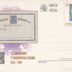 Selos: TARJETA ENTERO POSTAL - 125 ANIVERSARIO ENTERO 1873- 1998 FNMT FILATELIA - SELLO IMPRESO RELACIONADO. Lote 138831730