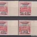 Sellos: ESPAÑA,ASTURIAS Y LEÓN, 1937 EDIFIL Nº 8 / 11 /**/, SIN DENTAR, BORDE DE HOJA, . Lote 139321518