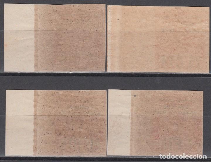 Sellos: ESPAÑA,ASTURIAS Y LEÓN, 1937 EDIFIL Nº 8 / 11 /**/, SIN DENTAR, BORDE DE HOJA, - Foto 2 - 139321518