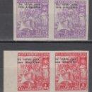 Sellos: HUERFANOS DE TELEGRAFOS, 1938 GALVEZ Nº 27S, 28S, SOBRECARGA, NO VALIDO PARA TASA TELEGRÁFICA . Lote 139349270