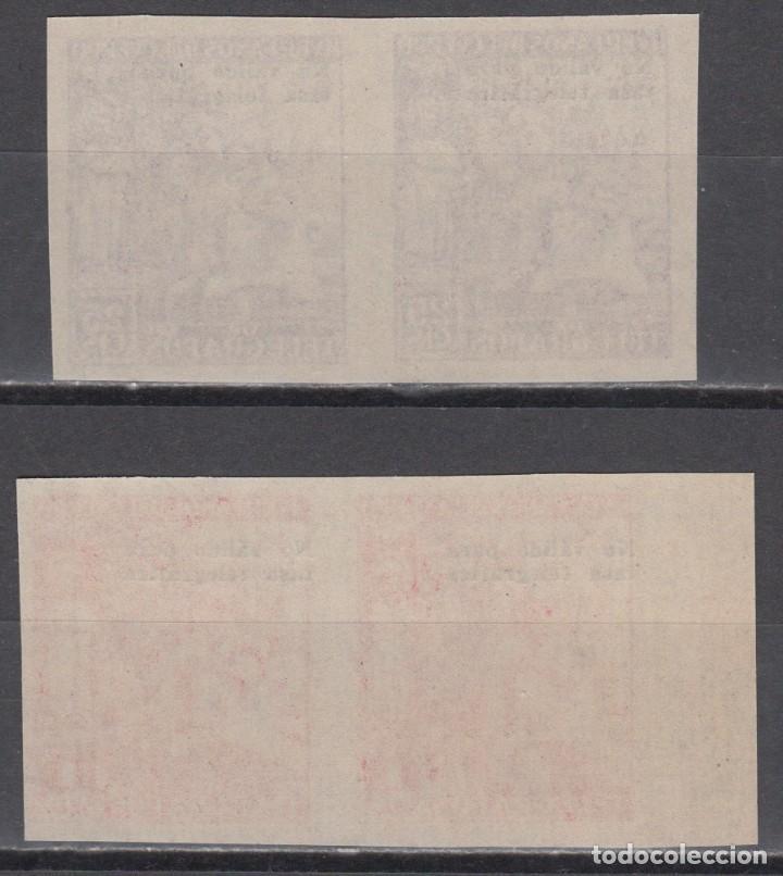 Sellos: HUERFANOS DE TELEGRAFOS, 1938 GALVEZ Nº 27S, 28S, SOBRECARGA, NO VALIDO PARA TASA TELEGRÁFICA - Foto 2 - 139349270