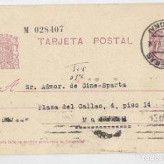 Sellos: TARJETA POSTAL REPÚBLICA ESPAÑOLA 15 CTS CIRCULADA SELLADA EN FIGUERA 8 DE ABRIL 36. MADRID HISTORIA. Lote 141154454