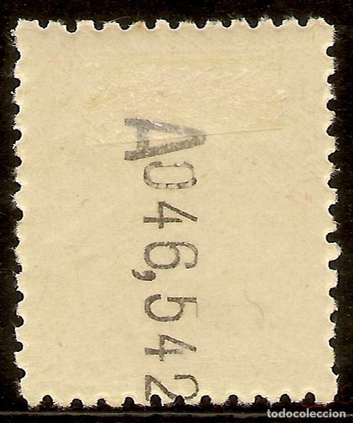 Sellos: ESPAÑA Telégrafos Edifil 75* Mh 10 Ptas Castaño Escudo España 1932/33 NL804 - Foto 2 - 141875122