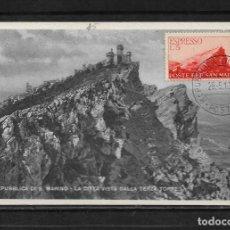 Sellos: SAN MARINO 1947 CARTA MAXIMA SIN CIRCULAR . Lote 142867566
