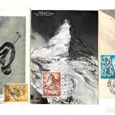 Sellos: SAN MARINO 1962 LOTE DE 3 CARTAS MAXIMAS SIN CIRCULAR. DEPORTES DE MONTAÑA . Lote 142868266