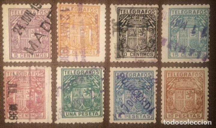 TELÉGRAFOS. 1932, ESCUDO DE ESPAÑA. SERIE COMPLETA, 8 VALORES (Nº 68-75 EDIFIL). (Sellos - España - Dependencias Postales - Telégrafos)
