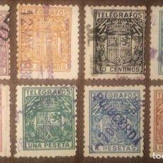 Sellos: TELÉGRAFOS. 1932, ESCUDO DE ESPAÑA. SERIE COMPLETA, 8 VALORES (Nº 68-75 EDIFIL).. Lote 142934670