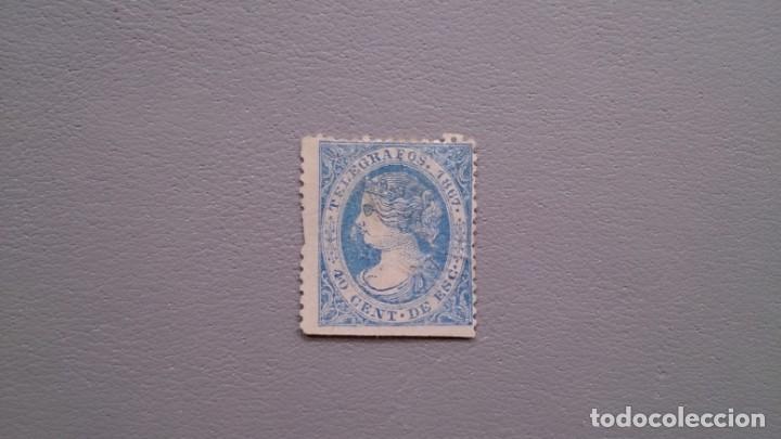 ESPAÑA - 1867 - ISABEL II - TELEGRAFOS - EDIFIL 18. (Sellos - España - Dependencias Postales - Telégrafos)