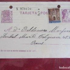Sellos: TARJETA POSTAL 1937. Lote 144903850