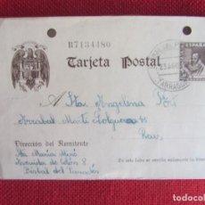 Sellos: TARJETA POSTAL 1942. Lote 144905262