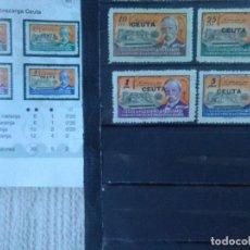 Sellos: 97C-SERIE COMPLETA 1945 ESPAÑA HABILITADO CEUTA HUÉRFANOS TELÉGRAFOS SOBRECARGA MNH**.VALOR 30,00€ F. Lote 145486314