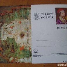 Sellos: TARJETA POSTAL CARTA DE JUAN DE LA COSA 1980. Lote 151013798