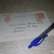 Sellos: ENTERO POSTAL, CADETE DE 10 CTS. CIRCULADO DE CASTRODEZA A MADRID, FECHADO EN 1911, 14 X 9 CM.. Lote 151189118