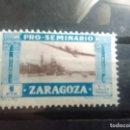 Sellos: PRO SEMINARIO ZARAGOZA - 1 PESETA - NUEVO. Lote 151713570