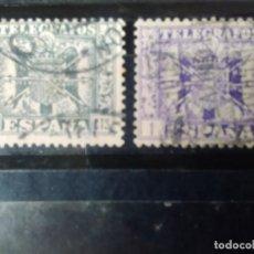 Sellos: EDIFIL 88 Y 90 DE LA SERIE: ESCUDO DE ESPAÑA. AÑO 1949. TELÉGRAFOS. Lote 152783134
