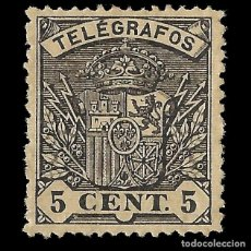 Sellos: SELLOS. ESPAÑA. TELÉGRAFOS. 1901. ESCUDO DE ESPAÑA.5C.NEGRO.NUEVO** .EDIFIL. Nº31. Lote 155377214