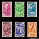Sellos: SELLOS. ESPAÑA. BENEFICENCIA 1938. HISTORIA DEL CORREO. SERIE COMPLETA. NUEVO**. EDIFIL Nº 21-26. Lote 159920226